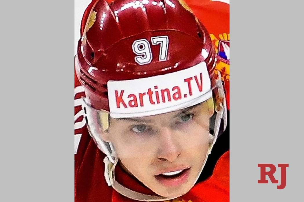 Russia's Nikita Gusev at the 2018 IIHF Ice Hockey World Championship group stage match between ...