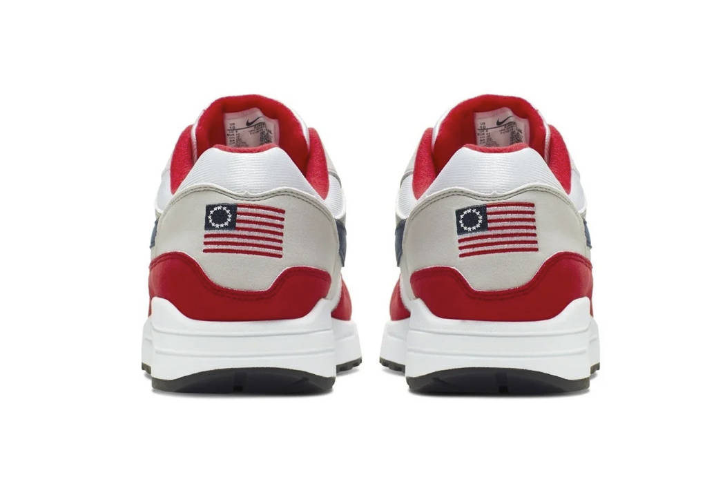 This undated product image obtained by the Associated Press shows Nike Air Max 1 Quick Strike F ...