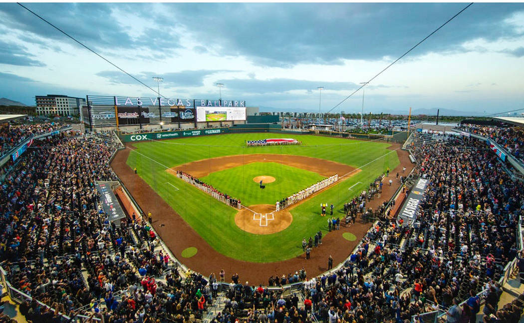 The Las Vegas Aviators, the city's professional Triple-A baseball team and affiliate of the O ...