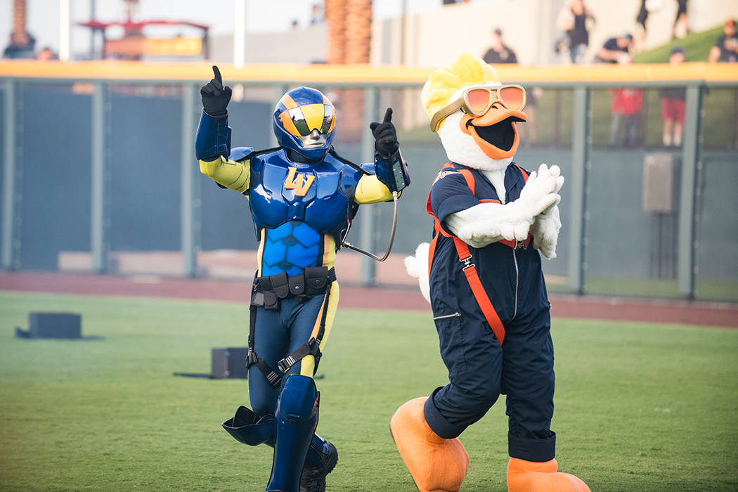 The Las Vegas Aviators has two mascots, Spruce the Goose and The Aviator. (Summerlin)