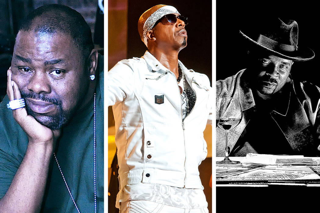 "Biz Markie (from left), MC Hammer and Sir Mix-A-Lot are part of the ""Hammer's House Party T ..."
