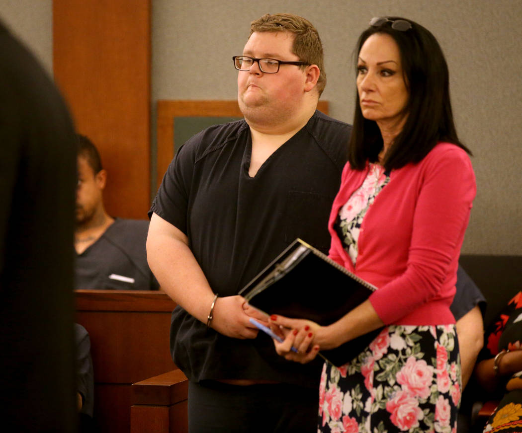 Security guard Brian William Love appears in court at the Regional Justice Center in Las Vegas ...