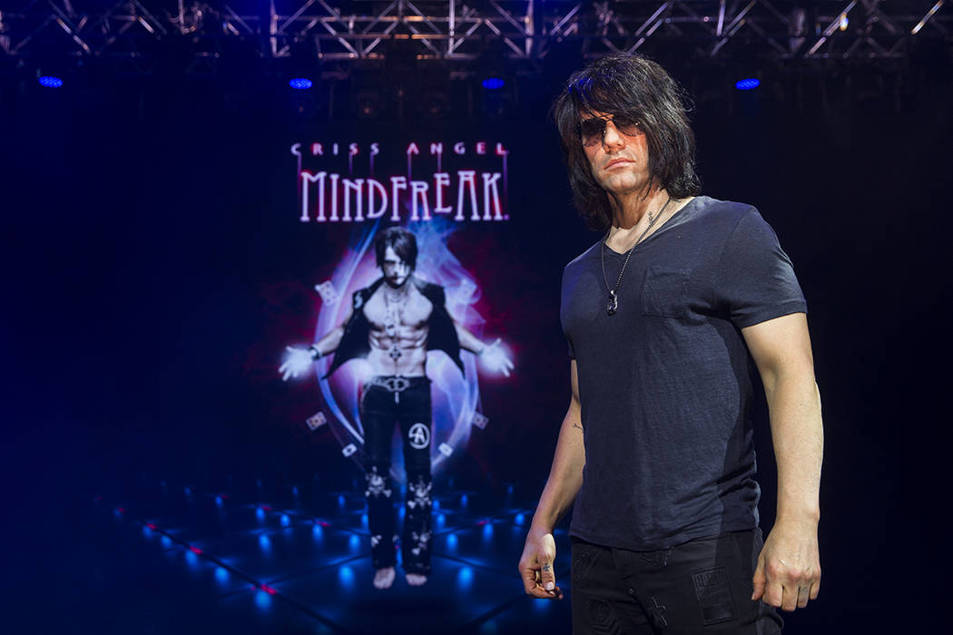 Illusionist Criss Angel at the site of his new theater at Planet Hollywood Resort on Thursday, ...