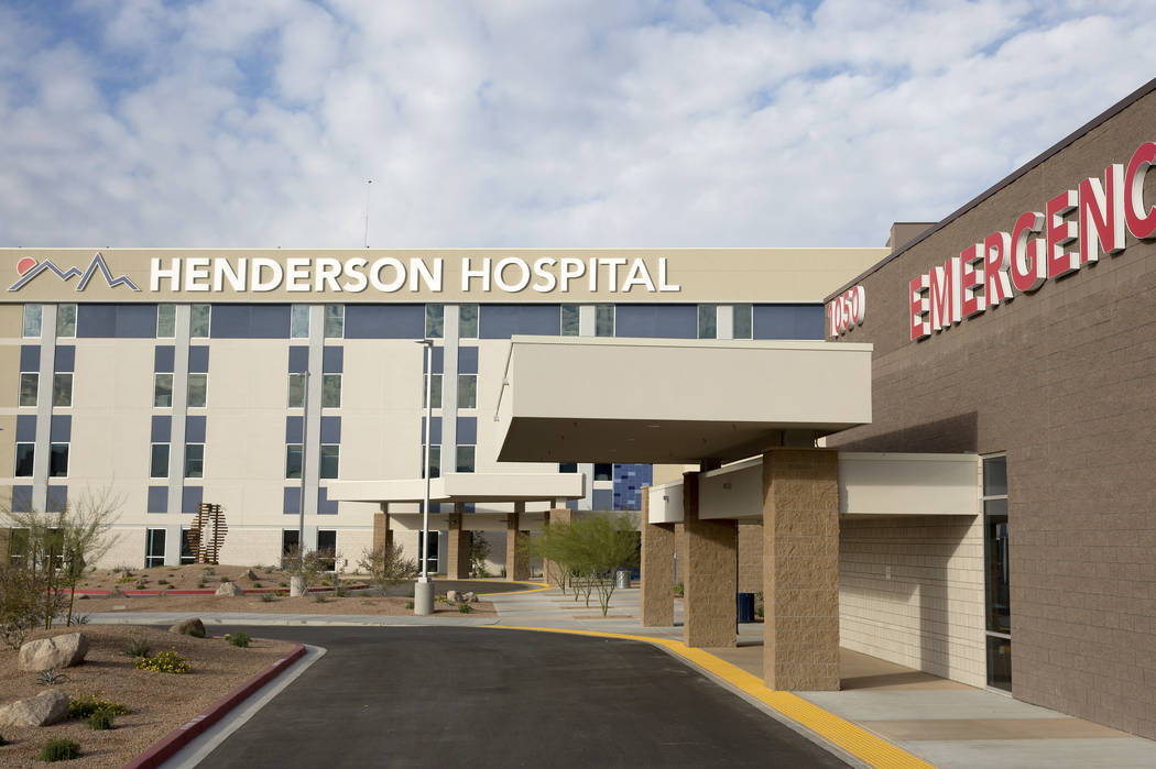 Henderson Hospital (David Guzman/Las Vegas Review-Journal) Follow @DavidGuzman1985