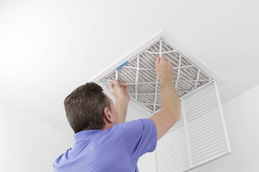 Replace indoor air filters to make sure the air circulating through your home is clean. (Getty ...