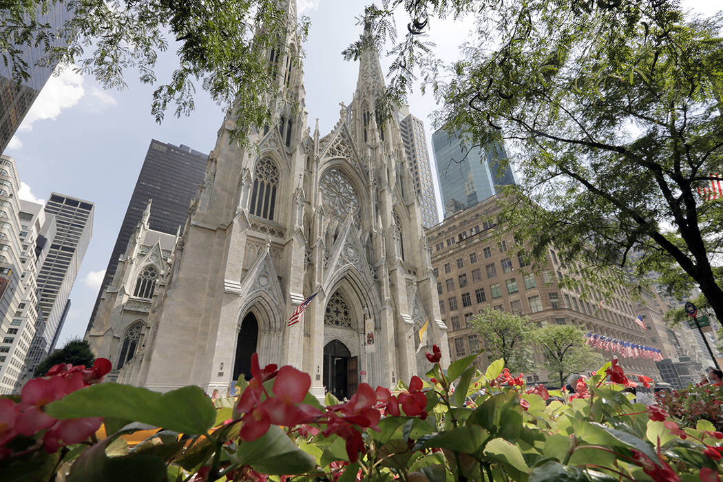 FILE - This Sept. 6, 2018 file photo shows St. Patrick's Cathedral, in New York. The Roman Cath ...