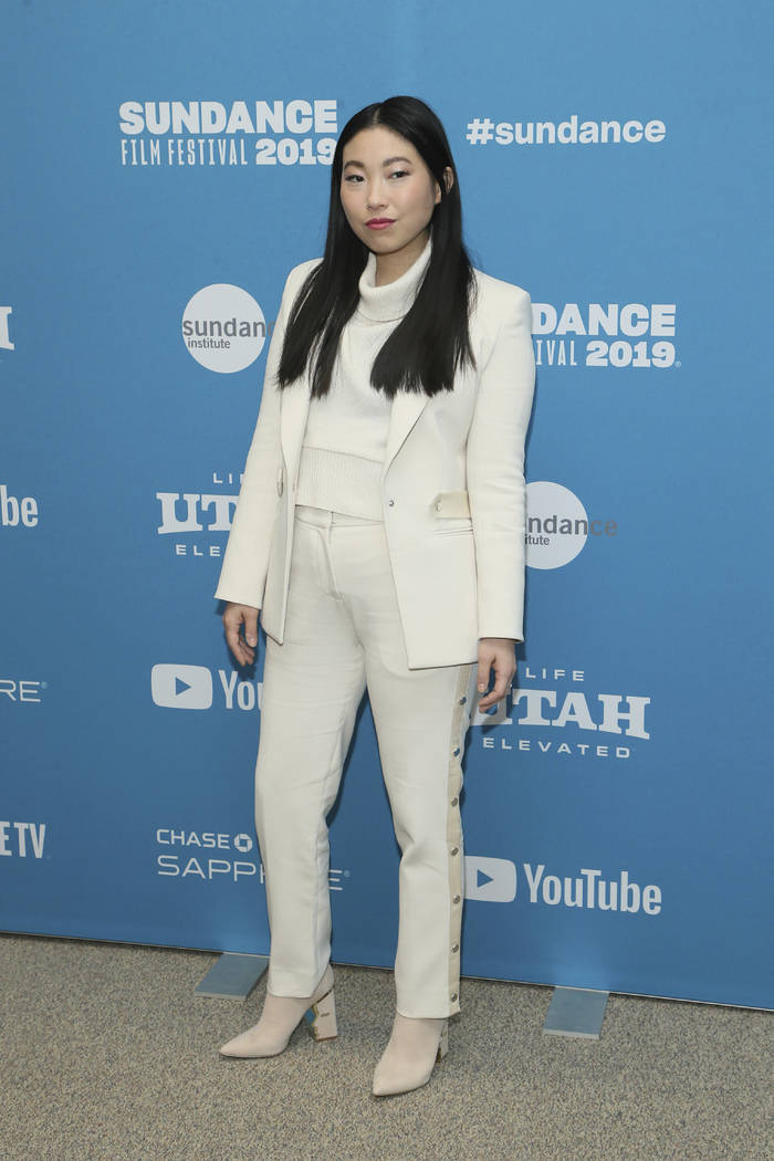 "Actress Awkwafina poses at the premiere of ""The Farewell"" during the 2019 Sundance Fi ..."
