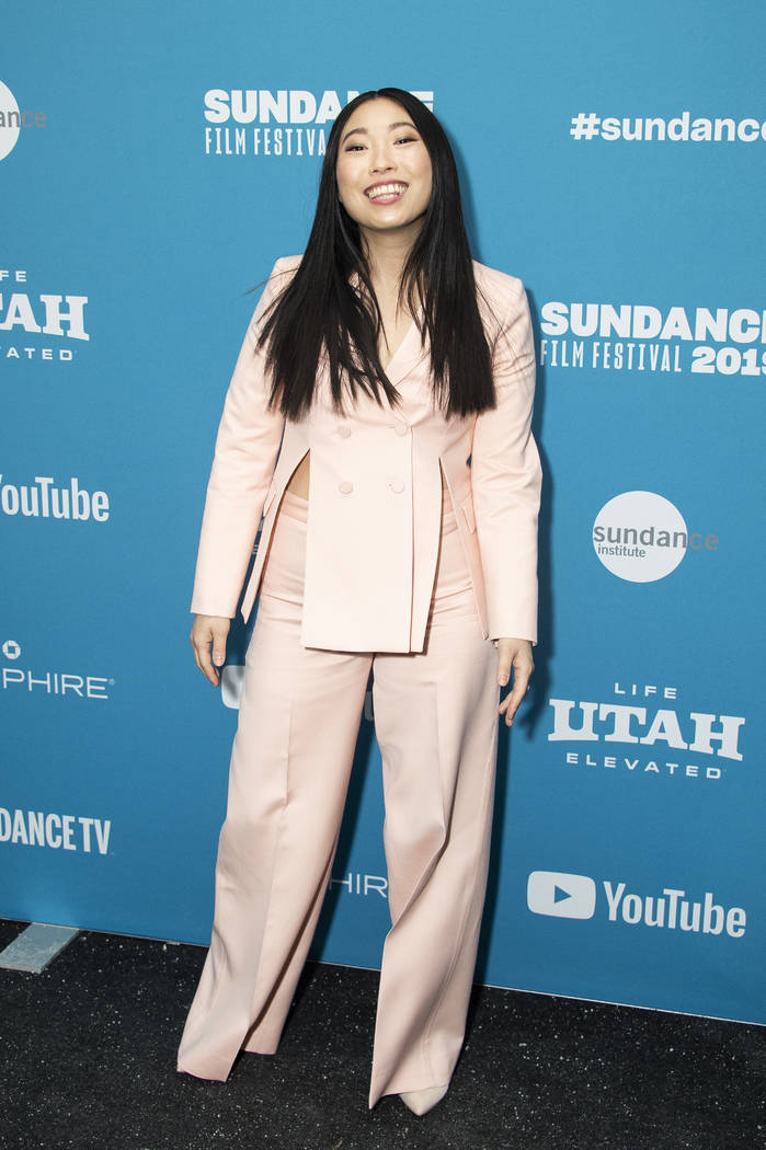 "Actress Awkwafina poses at the premiere of ""Paradise Hills"" during the 2019 Sundance ..."