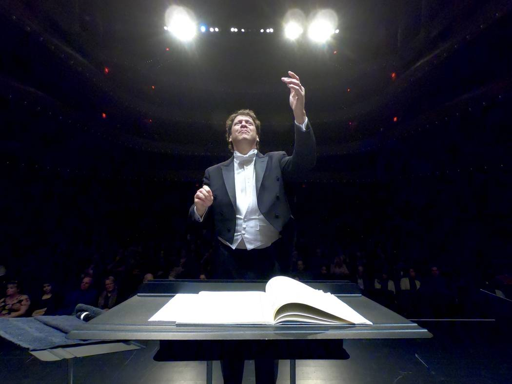 Music director Donato Cabrera leads the Las Vegas Philharmonic in a February concert at The Smi ...