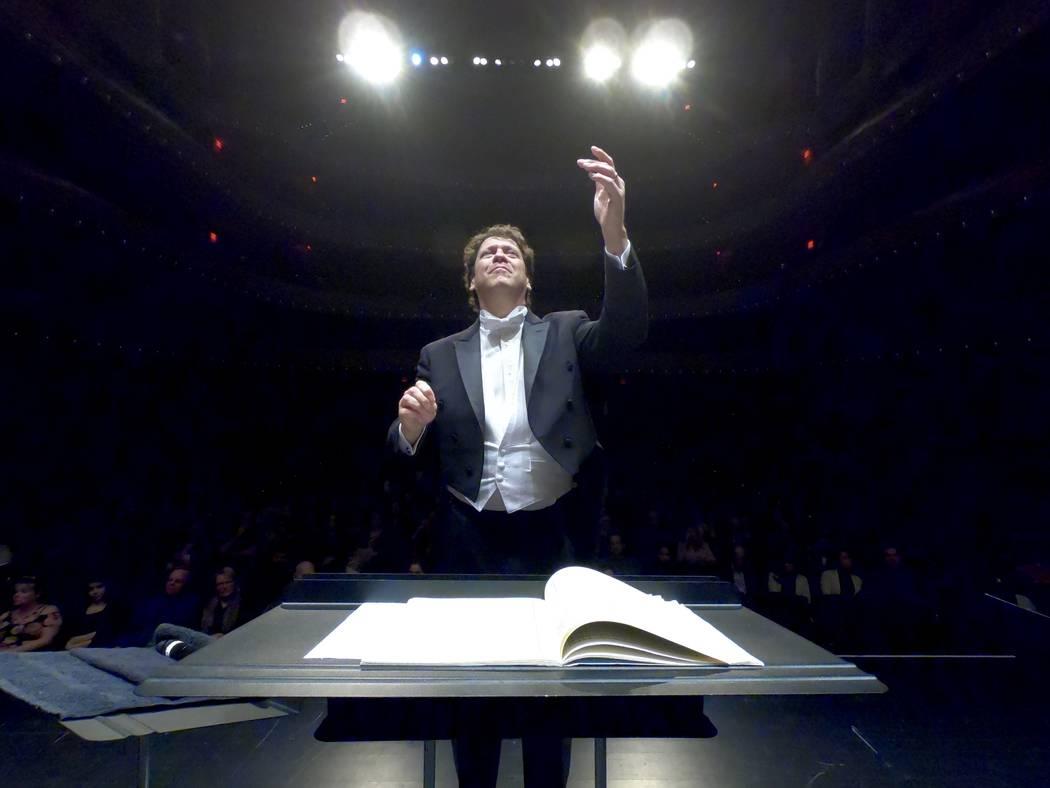 Music director Donato Cabrera leads the Las Vegas Philharmonic in a February concert at The Smi ...