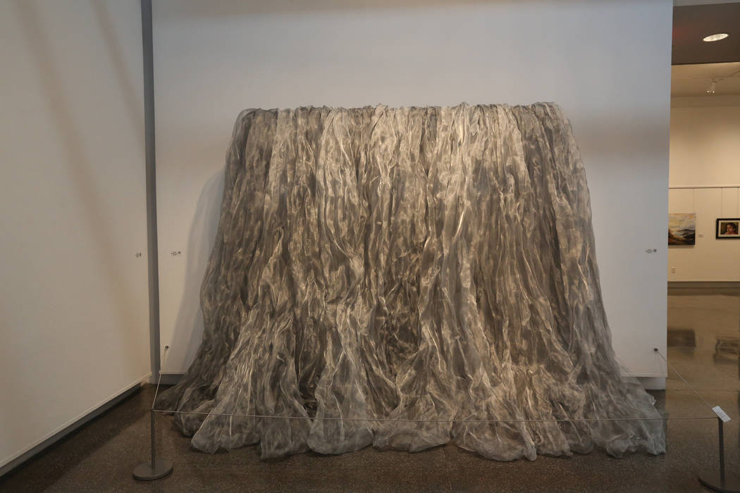 """Denise Duarte's art piece """"Water"""" at Sahara West Library Art Gallery on July 2, 2019, in Las Ve ..."""