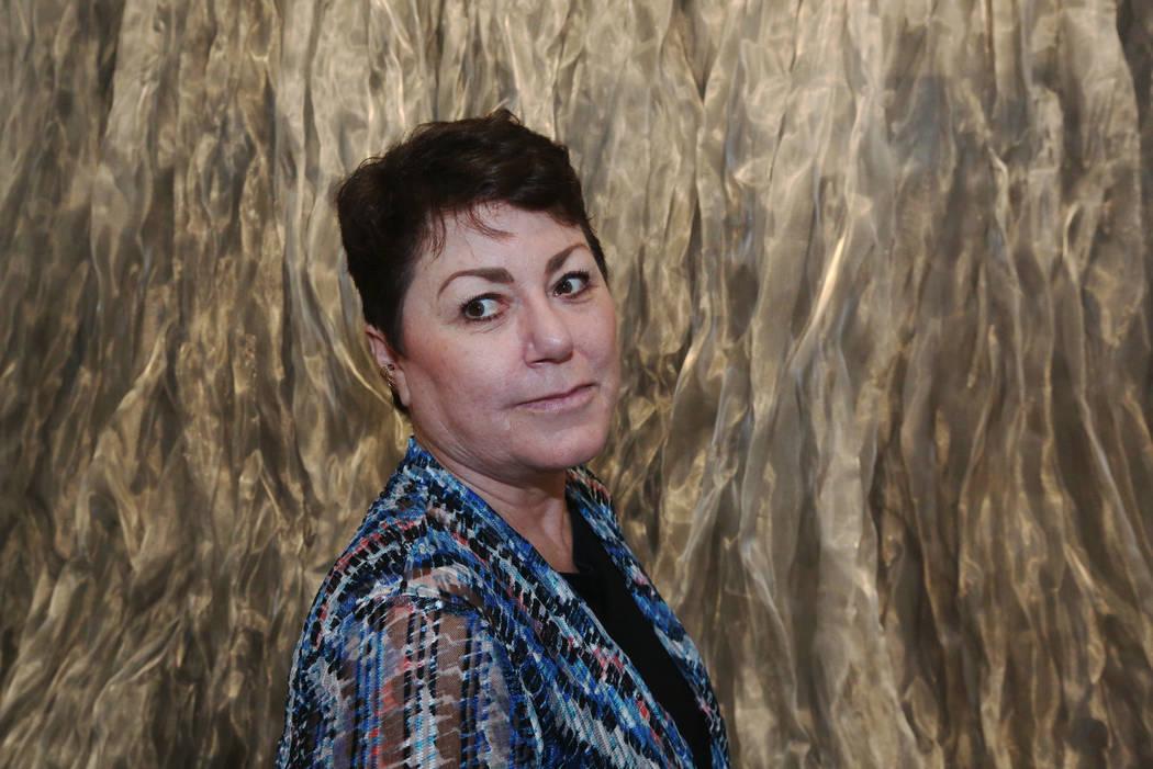 Denise Duarte at Sahara West Library Art Gallery on July 2, 2019, in Las Vegas. Duarte's art ex ...