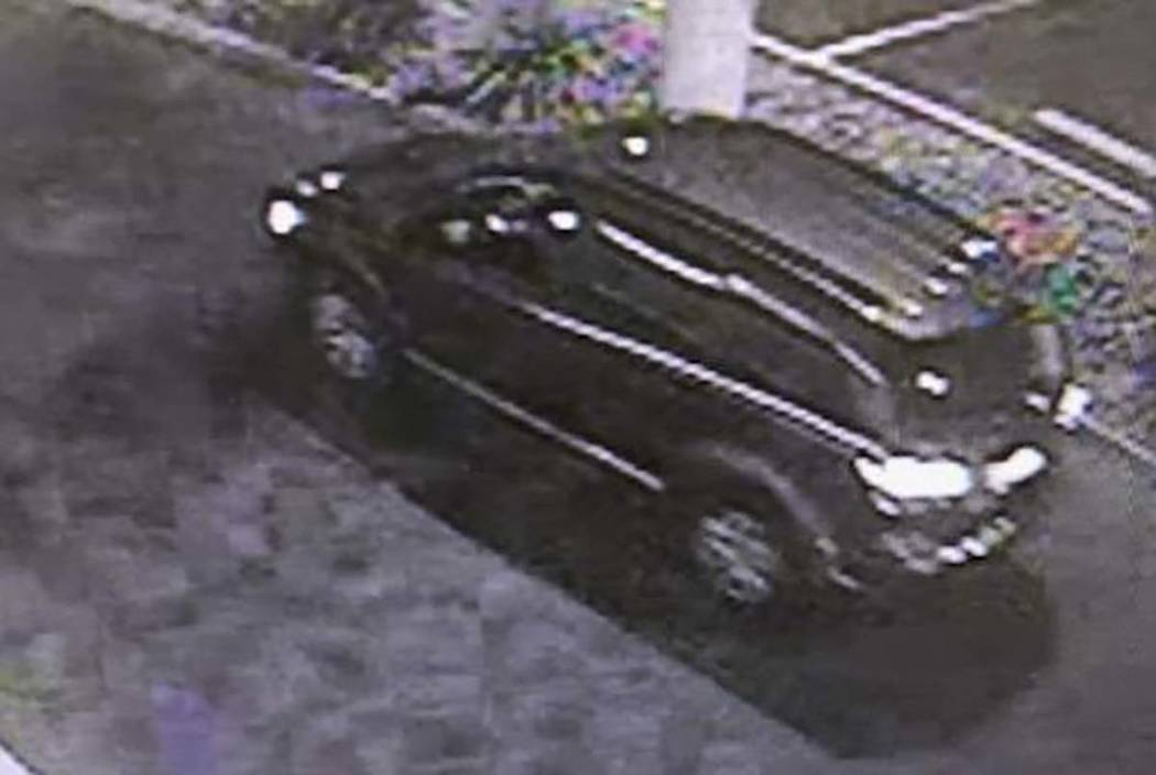 A dark gray SUV used in several armed robberies of West Charleston Boulevard charity fireworks ...