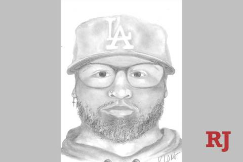 Sketch of robbery suspect (Las Vegas Metropolitan Police Department)