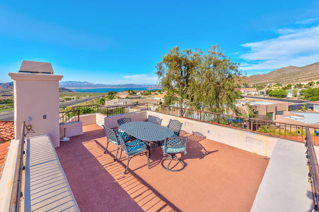 The Southwestern Boulder City home has a rooftop deck. (Desert Sun Realty)