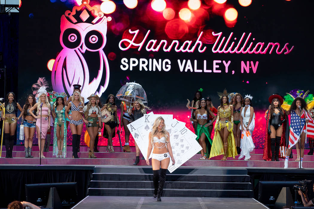 Photo by Zac Grimaldo Hannah Williams of Las Vegas was second runner-up in the 2019 Miss Hooter ...