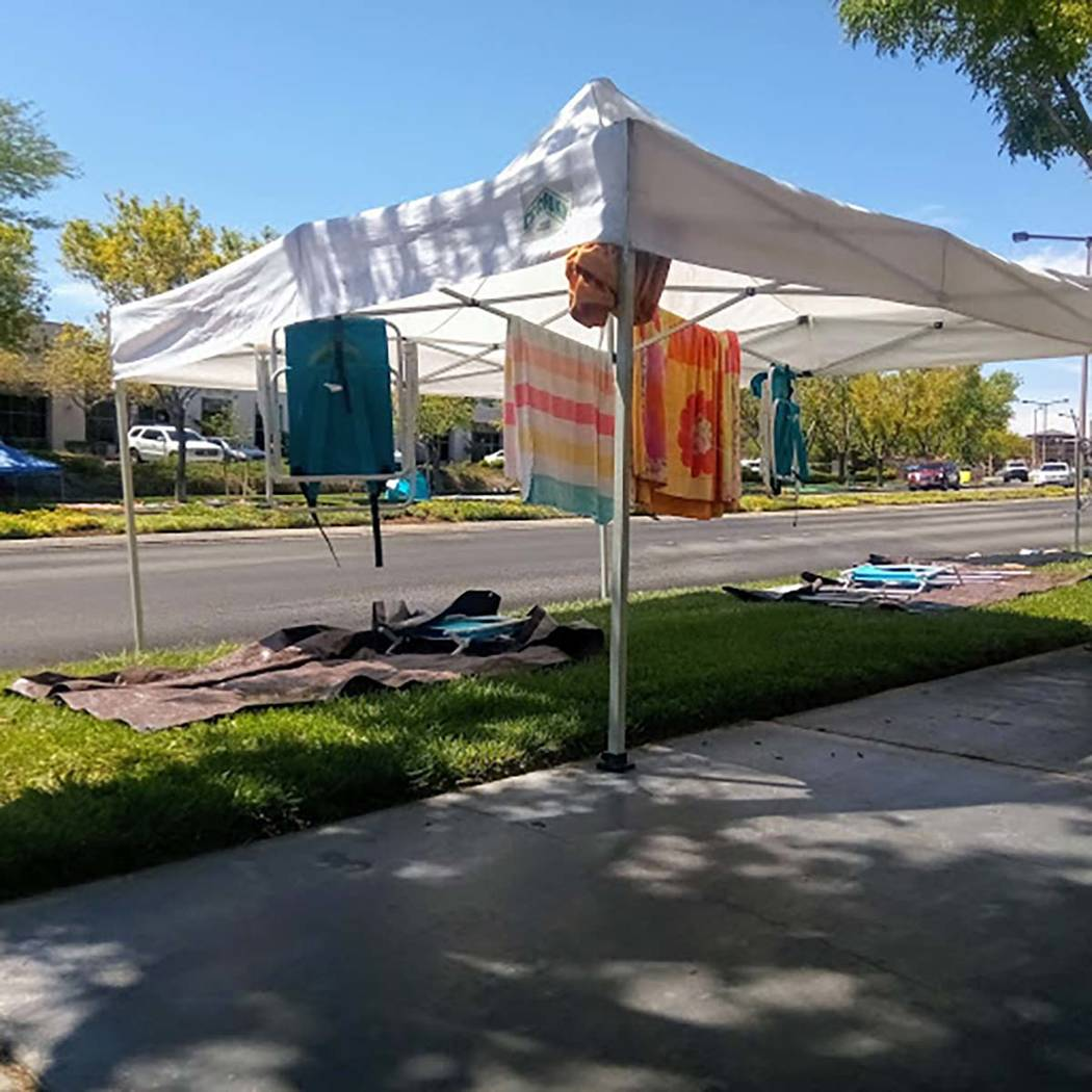 Canopies to provide shade form the sun abound along the parade route for the 25th annual Summer ...