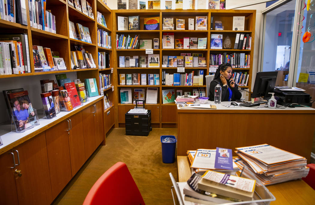 Lakita Arrinton manages the library for patient's use at the Cleveland Clinic Lou Ruvo Center f ...