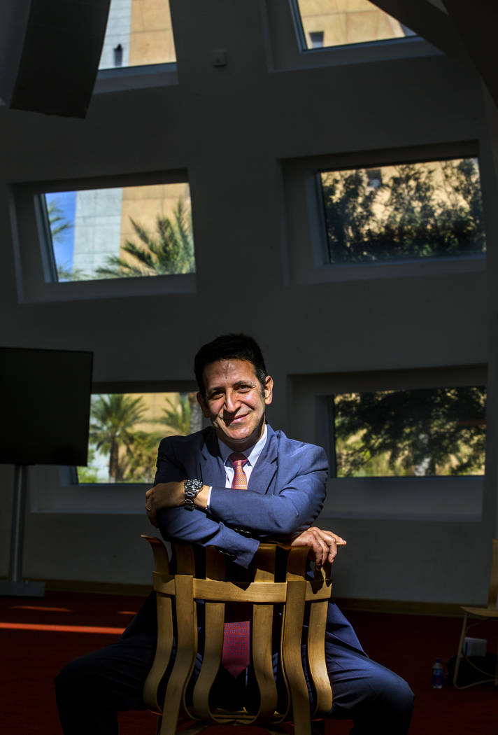 Dr. Marwan Sabbagh, director of the Cleveland Clinic Lou Ruvo Center for Brain Health, poses fo ...