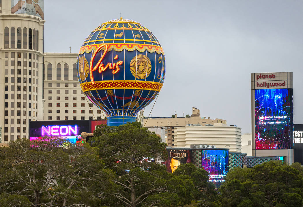 Paris Las Vegas on Wednesday, March 20, 2019, in Las Vegas. (Benjamin Hager Review-Journal) @Be ...