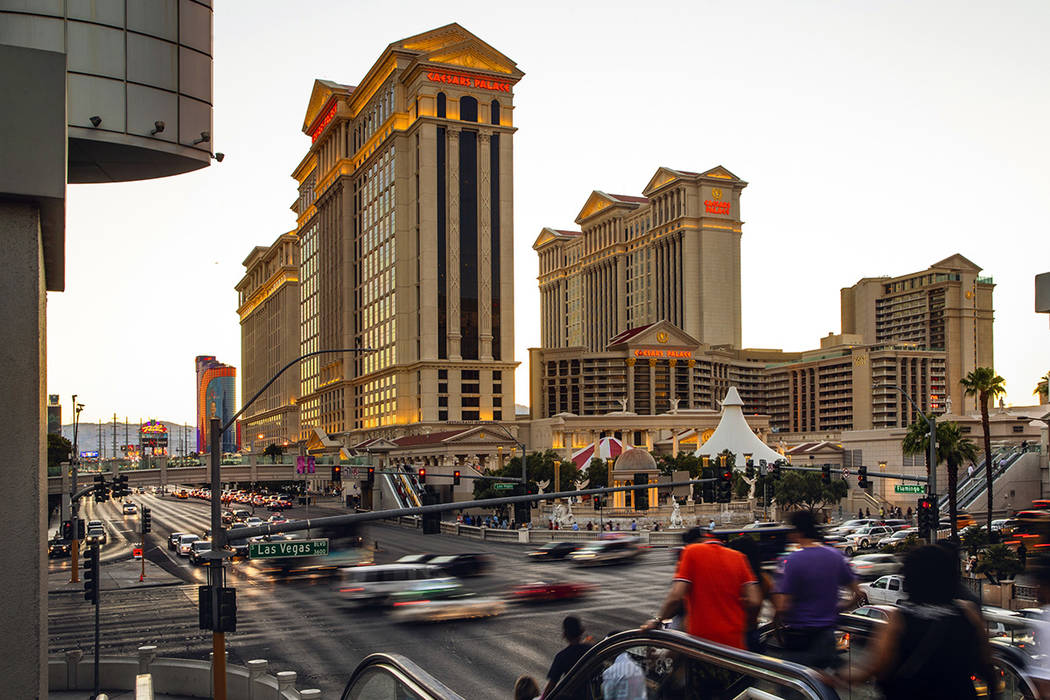 Caesars Palace on the Strip on Sunday, June 23, 2019, in Las Vegas. (L.E. Baskow/Las Vegas Rev ...