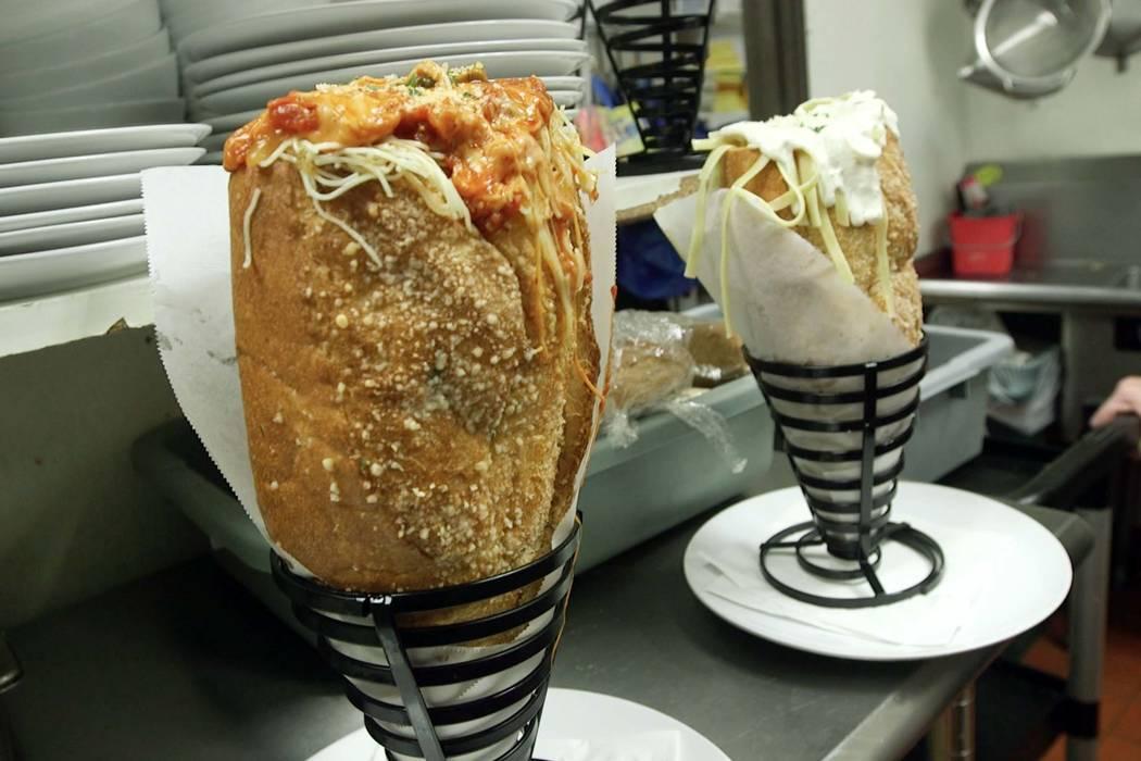 "Two variations of the ""Fat Baby"" sandwich at Amano Las Vegas. (Mat Luschek/Las Vegas Review-Jou ..."