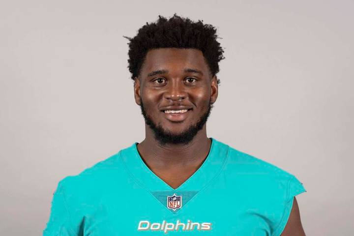 This is a 2019 photo of Kendrick Norton of the Miami Dolphins NFL football team. (AP)