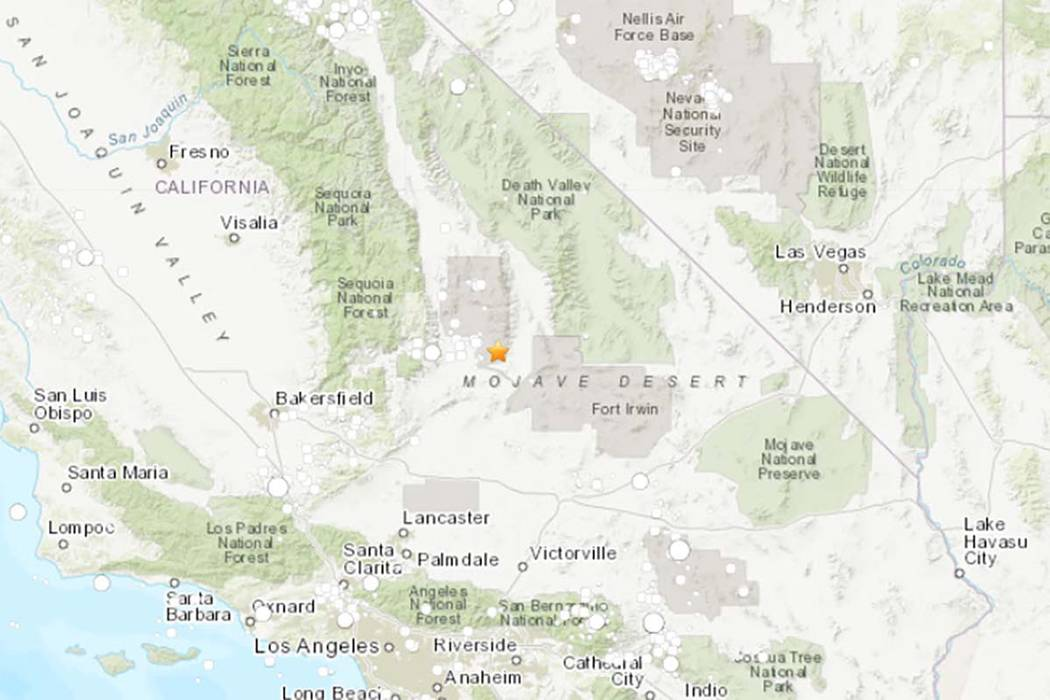 6.4-magnitude earthquake in California felt in Las Vegas — VIDEO ...
