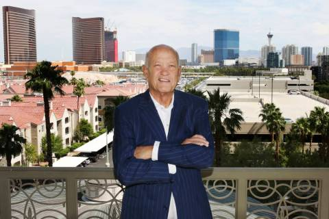 John Knott, broker, CBRE Group poses for photos at his Las Vegas condo on Friday, June 14, 2019 ...
