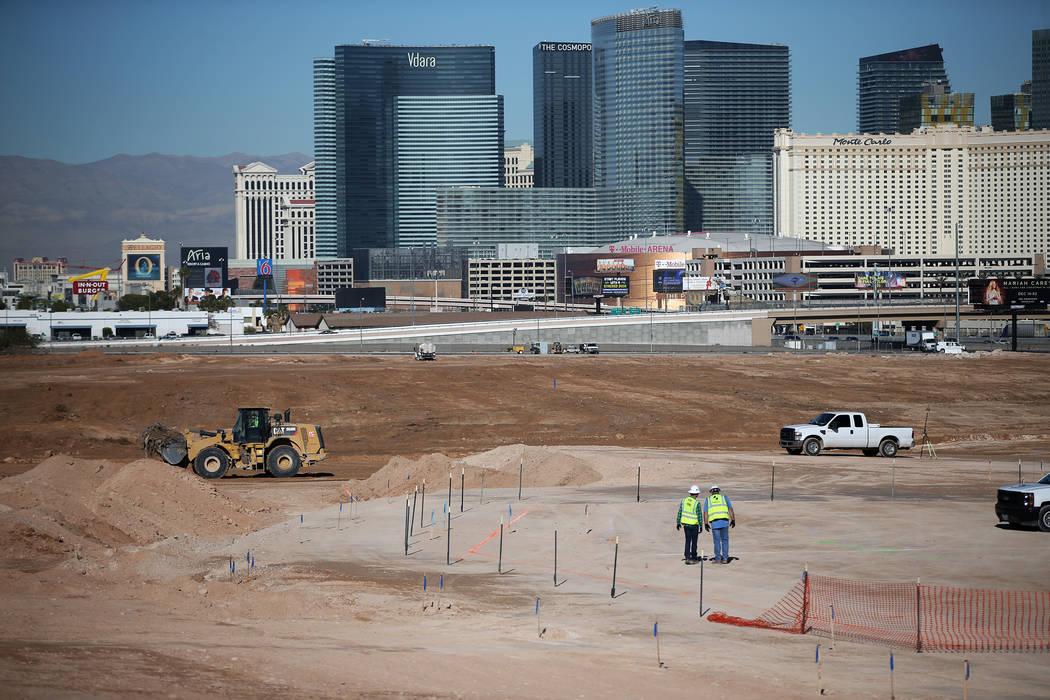 The scene at the Raiders stadium site in Las Vegas, Tuesday, Dec. 12, 2017. Erik Verduzco Las V ...