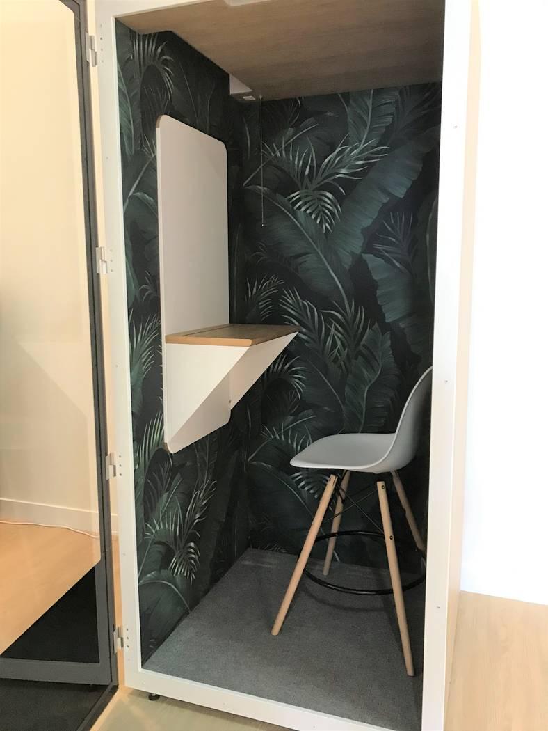 A soundproof, quiet room in Bottega Exchange. Rachel Spacek/ Las Vegas Review-Journal @RachelSpacek