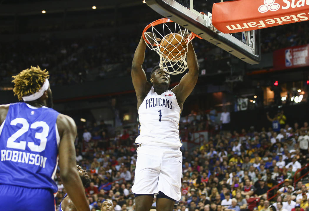 Las Vegas Real Estate >> NBA Summer League: Injury ends Zion's night, earthquake ends game | Las Vegas Review-Journal