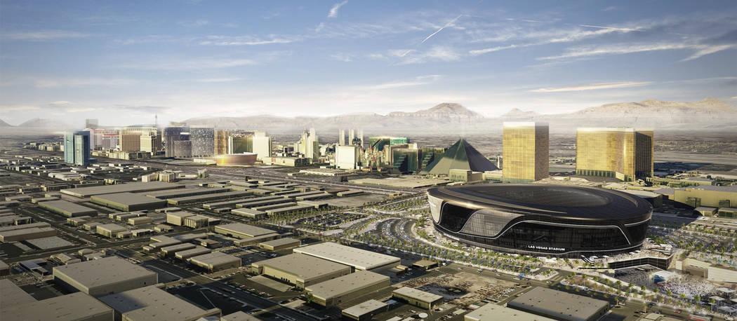 Rendering of proposed Raiders Stadium in Las Vegas. (Raiders)