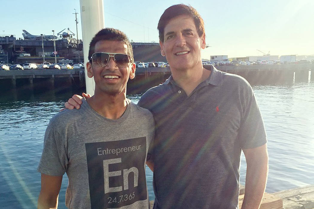 Shaan Patel, left, and Mark Cuban (courtesy)
