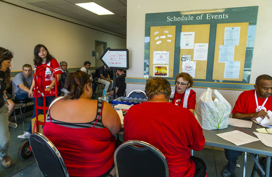 The American Red Cross currently has 370 registered clients at their California Earthquake Clea ...