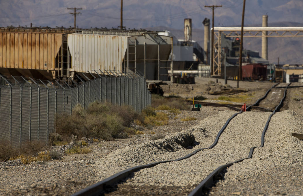 A small stretch of the Trona Railway tracks are now twisted and will need repair due to the ea ...