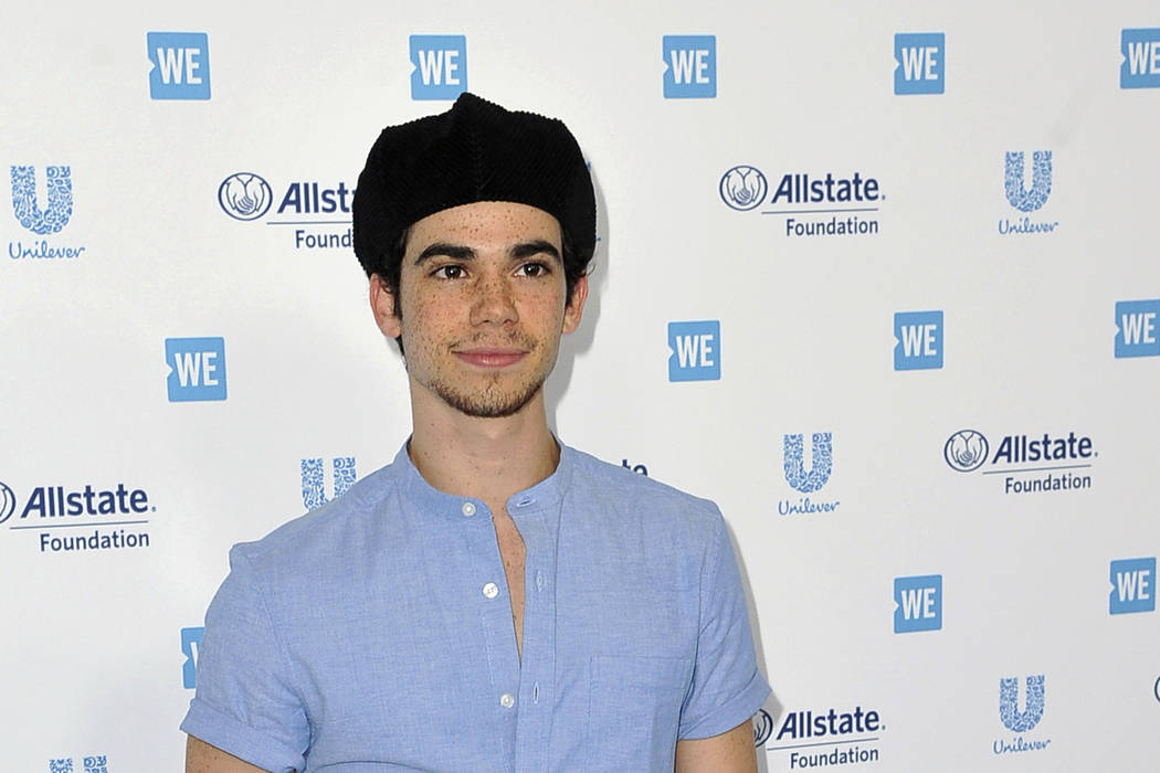 FILE - In this April 25, 2019, file photo, Cameron Boyce arrives at WE Day California at The Fo ...