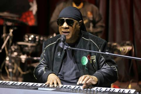 "FILE - In this Tuesday, Nov. 27, 2018 file photo, Stevie Wonder performs live at the ""Hous ..."
