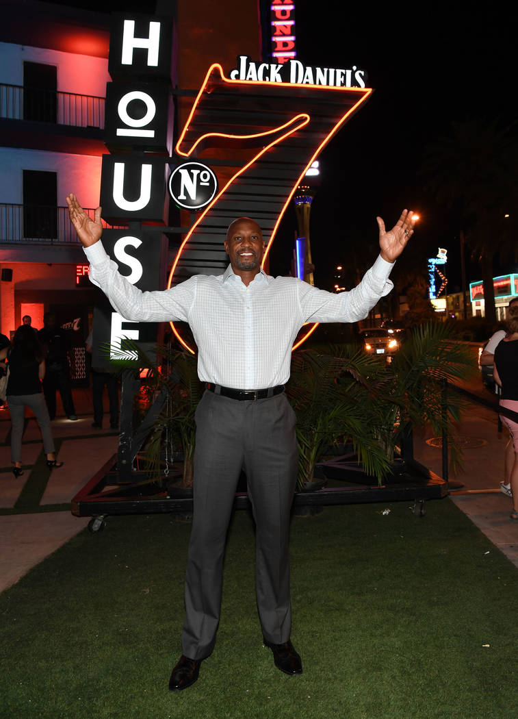 American professional basketball player Alonzo Mourning arrives at the Jack Daniel's House No. ...