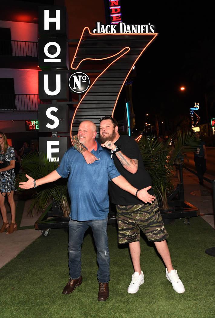LAS VEGAS, NV - JULY 06: Rick Harrison and Corey Harrison attend the Jack Daniel's House No. 7 ...