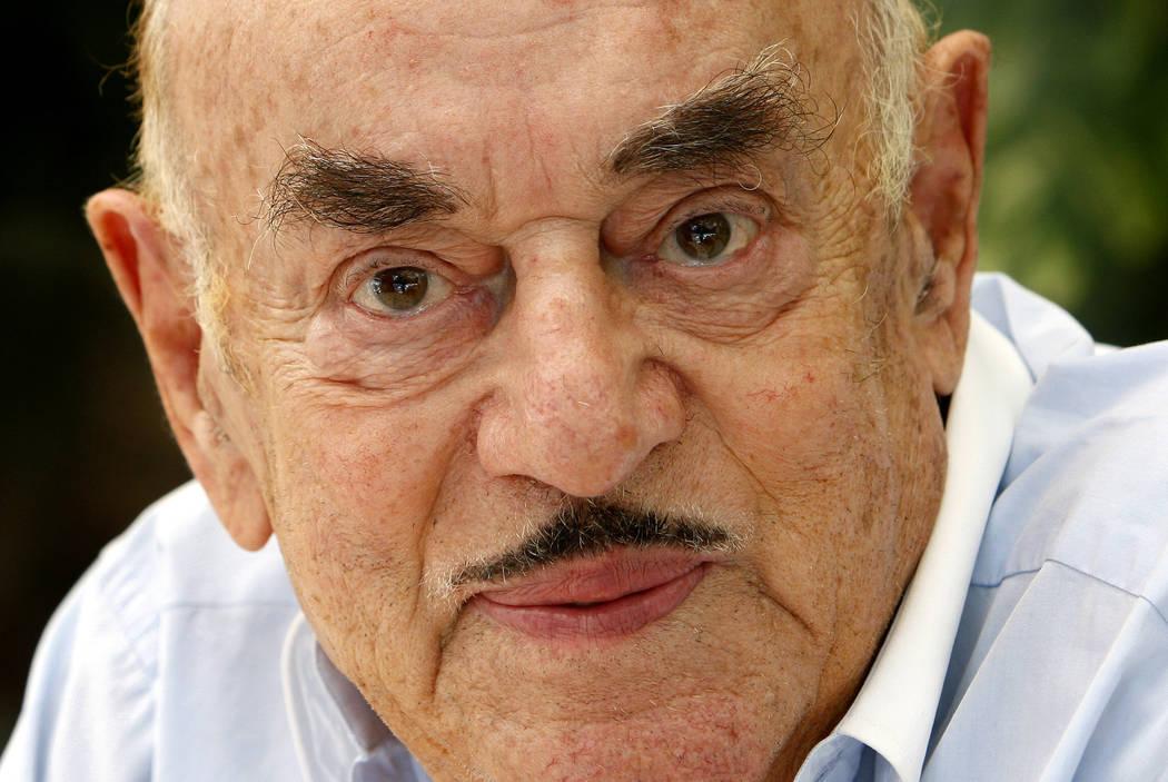 FILE - In this Monday, July 28, 2008 file photo, Artur Brauner, a Polish-born Holocaust survivo ...