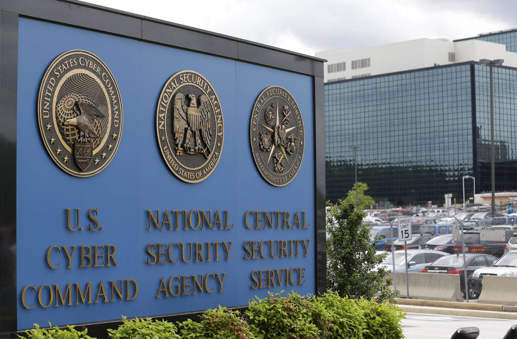 FILE - In this June 6, 2013 file photo, the sign outside the National Security Administration ( ...