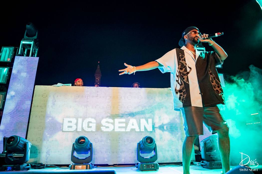 Big Sean performs at Drai's Las Vegas on Thursday, July 4, 2019. (Cara Hutchison/Lede Company Team)