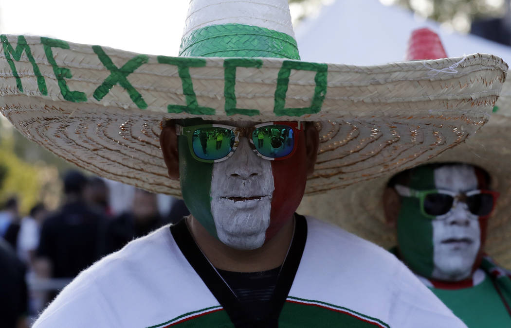 Mexico fans attend the CONCACAF Gold Cup final soccer match between United States and Mexico at ...