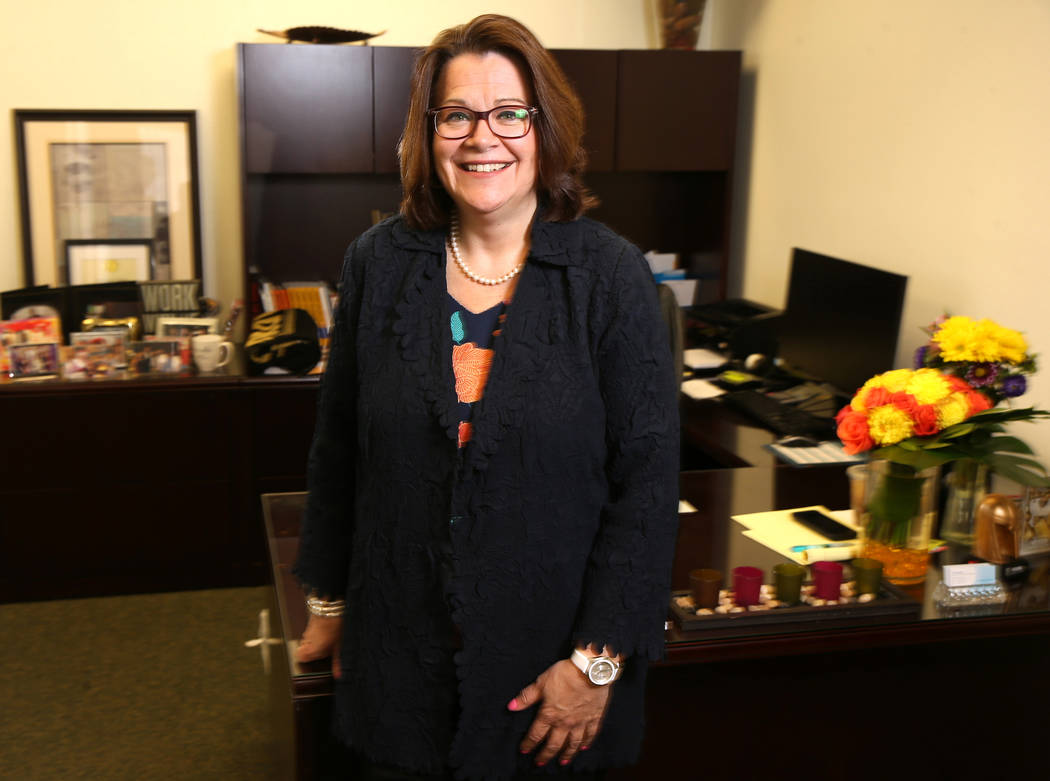 Nathan Adelson Hospice President and CEO Karen Rubel at her Las Vegas offices Tuesday, July 2, ...