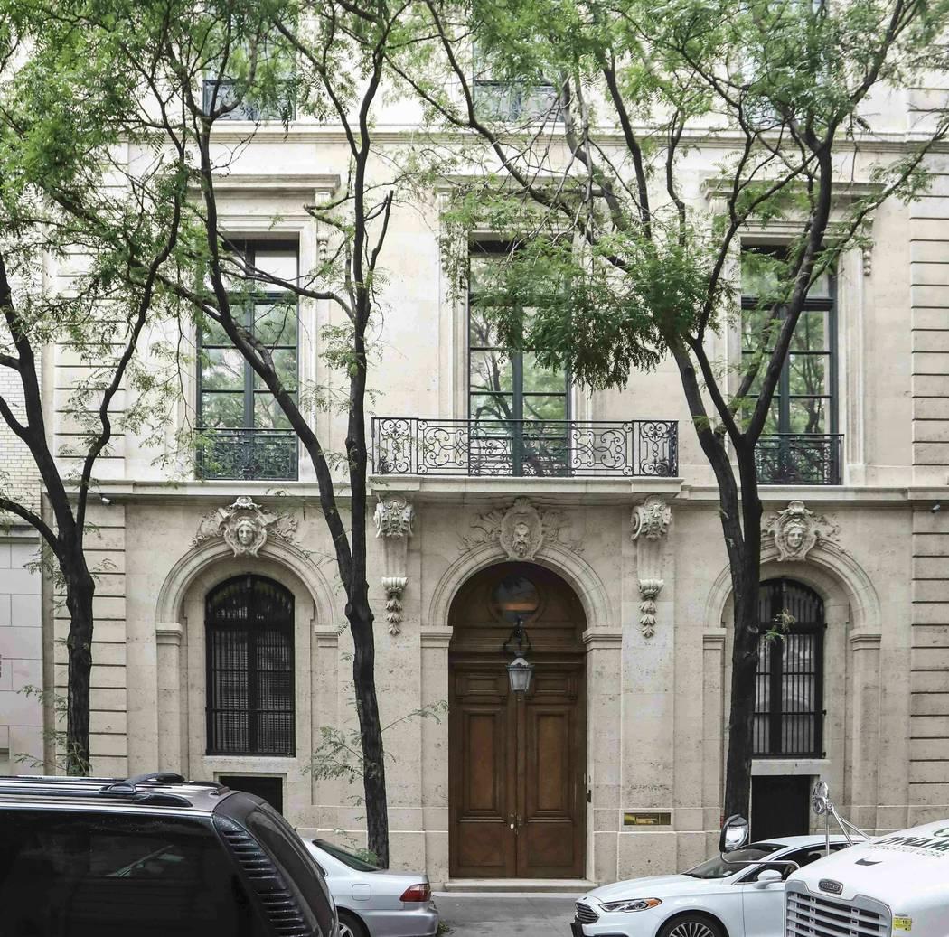 The Manhattan residence of Jeffrey Epstein, Monday July 8, 2019, in New York. Prosecutors said ...