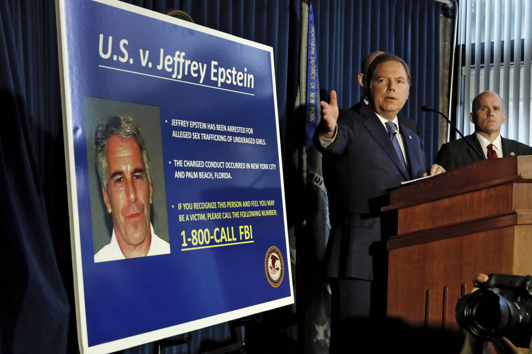 U.S. Attorney for the Southern District of New York Geoffrey Berman speaks during a news confer ...