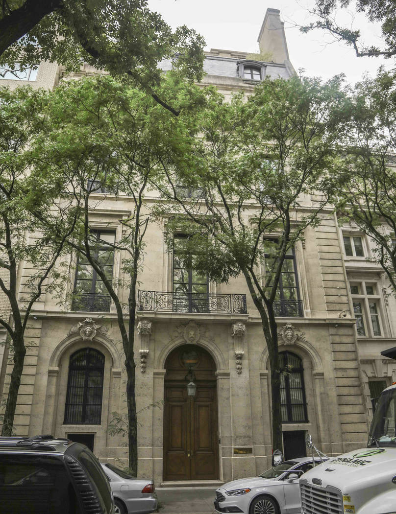 This photo shows the Manhattan residence of Jeffrey Epstein, Monday July 8, 2019, in New York. ...