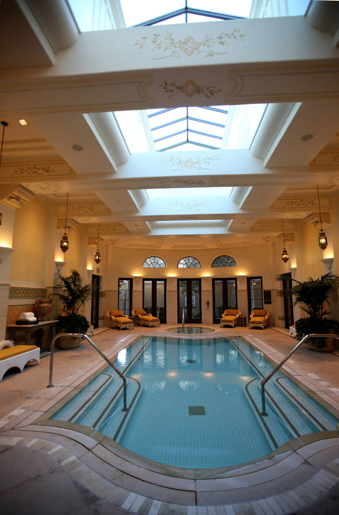 The private swimming pool at the 12,000-square-foot Villa 8 at The Mansion at MGM on the Strip ...