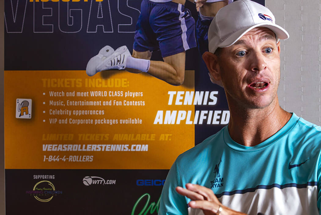 Vegas Rollers coach Tim Blenkiron talks tennis and the upcoming season at The Orleans on Wednes ...